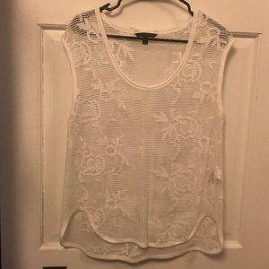 NWOT Banana Republic white embroidered tank